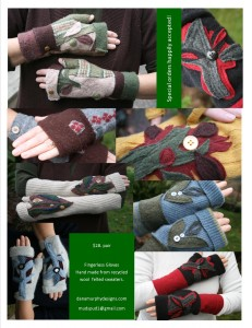 Fingerless Wool Texting Gloves