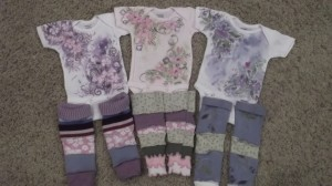 Hand Painted Onesie and Cotton Legging Set