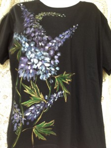 Delphinium on Black XL