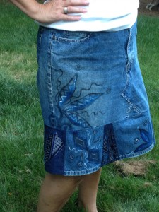 Shabby Chic Denim Skirt