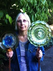 Heidi Bachofner and her Glass Garden Art