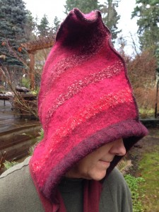 Felted Wool Pixie Hood