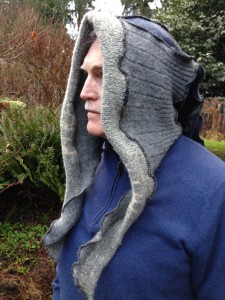 Recycled Felted Wool Hood