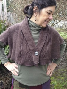 Recycled Wool and Angora Shrug