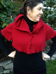 Red Robin Hood Upcycled Cotton Cape