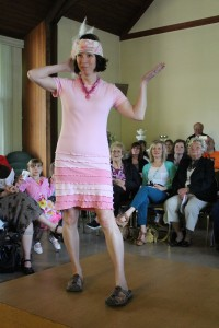 up cycled pink cotton t shirt dress
