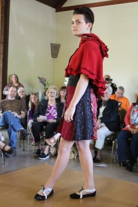 cotton skirt and red riding hood cape