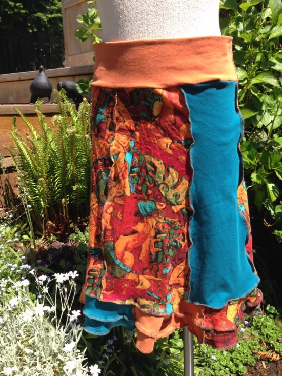Upcycled Cotton Skirt